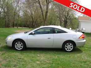 2004 honda accord ex 2 door coupe 1613 franklin street center point ia 52213 used cars. Black Bedroom Furniture Sets. Home Design Ideas